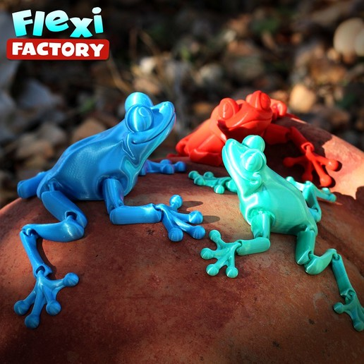 Frog_03.jpg Download STL file Cute Flexi Print-in-Place Frog • Template to 3D print, FlexiFactory