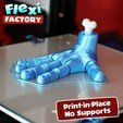 Download STL file Flexi PRINT-IN-PLACE Hand • 3D printing model, dsopala