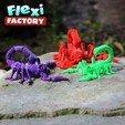 Scorpion_10.jpg Download STL file Flexi Print-In-Place Scorpion • 3D printer object, FlexiFactory