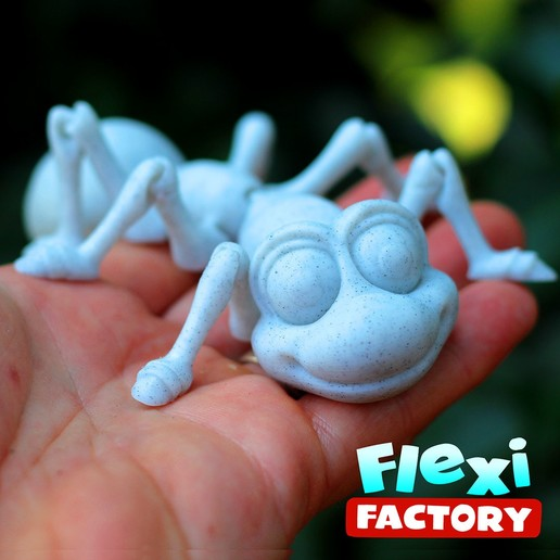 Ant07.jpg Download STL file Cute Flexi Print-in-Place Ant • 3D printing design, FlexiFactory