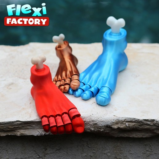 Foot_6.jpg Download STL file Flexi Print-in-Place Foot • 3D printer template, FlexiFactory