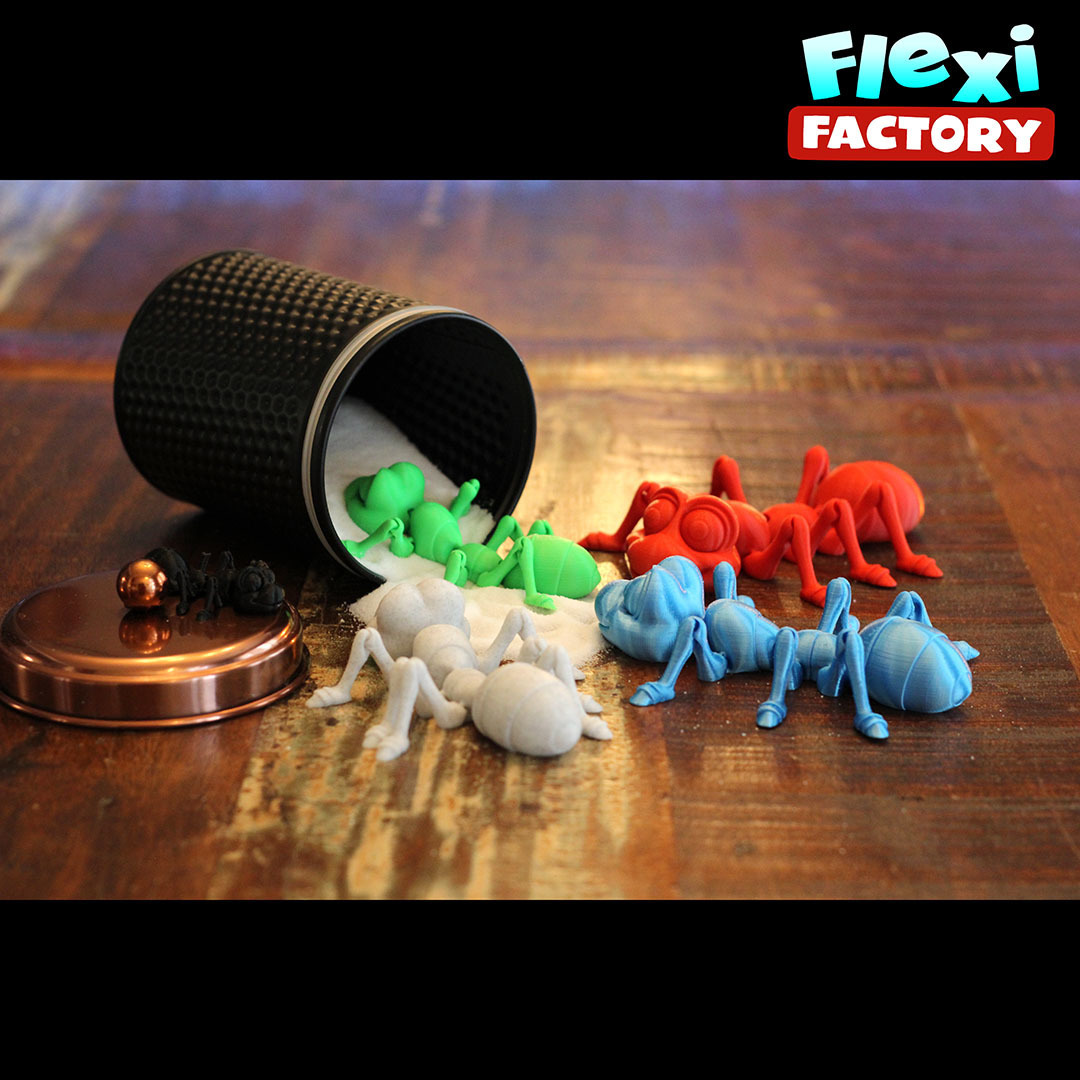 Ant13.jpg Download STL file Cute Flexi Print-in-Place Ant • 3D printing design, FlexiFactory