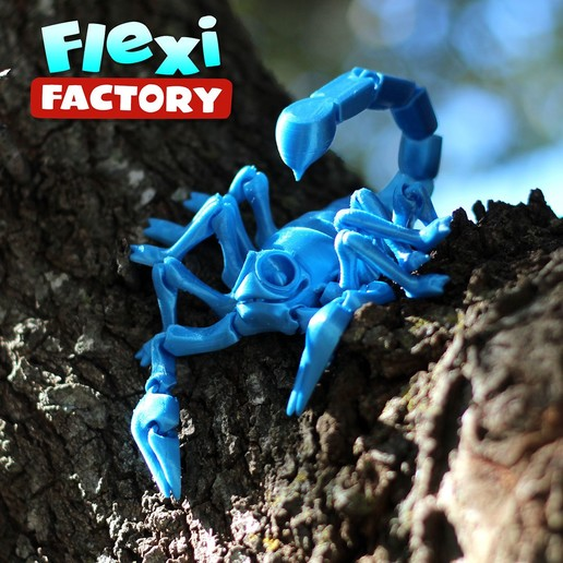 Scorpion_13.jpg Download STL file Flexi Print-In-Place Scorpion • 3D printer object, FlexiFactory
