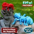 Angel07.jpg Download STL file Cute Flexi Print-in-Place Spider • 3D printer template, FlexiFactory
