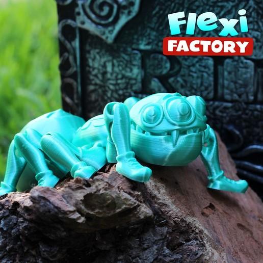 Spider_E.jpg Download STL file Cute Flexi Print-in-Place Spider • 3D printer template, FlexiFactory