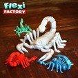 BiG_Scorpion03.jpg Download STL file Flexi Print-In-Place Scorpion • 3D printer object, FlexiFactory