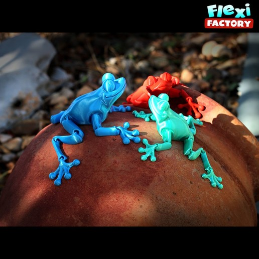Featured.jpg Download STL file Cute Flexi Print-in-Place Frog • Template to 3D print, FlexiFactory