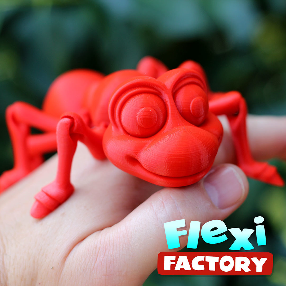 Ant05.jpg Download STL file Cute Flexi Print-in-Place Ant • 3D printing design, FlexiFactory