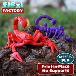 Scorpion_MMF_Lead.jpg Download free STL file Flexi Scorpion • 3D printer model, FlexiFactory