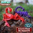 Scorpion_MMF_Lead.jpg Download STL file Flexi Print-In-Place Scorpion • 3D printer object, FlexiFactory