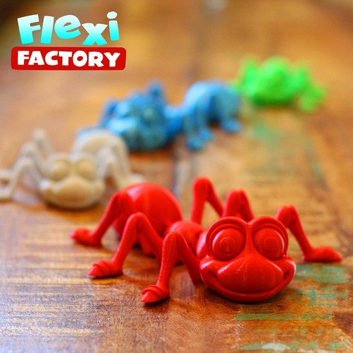 Ant06.jpg Download STL file Cute Flexi Print-in-Place Ant • 3D printing design, FlexiFactory