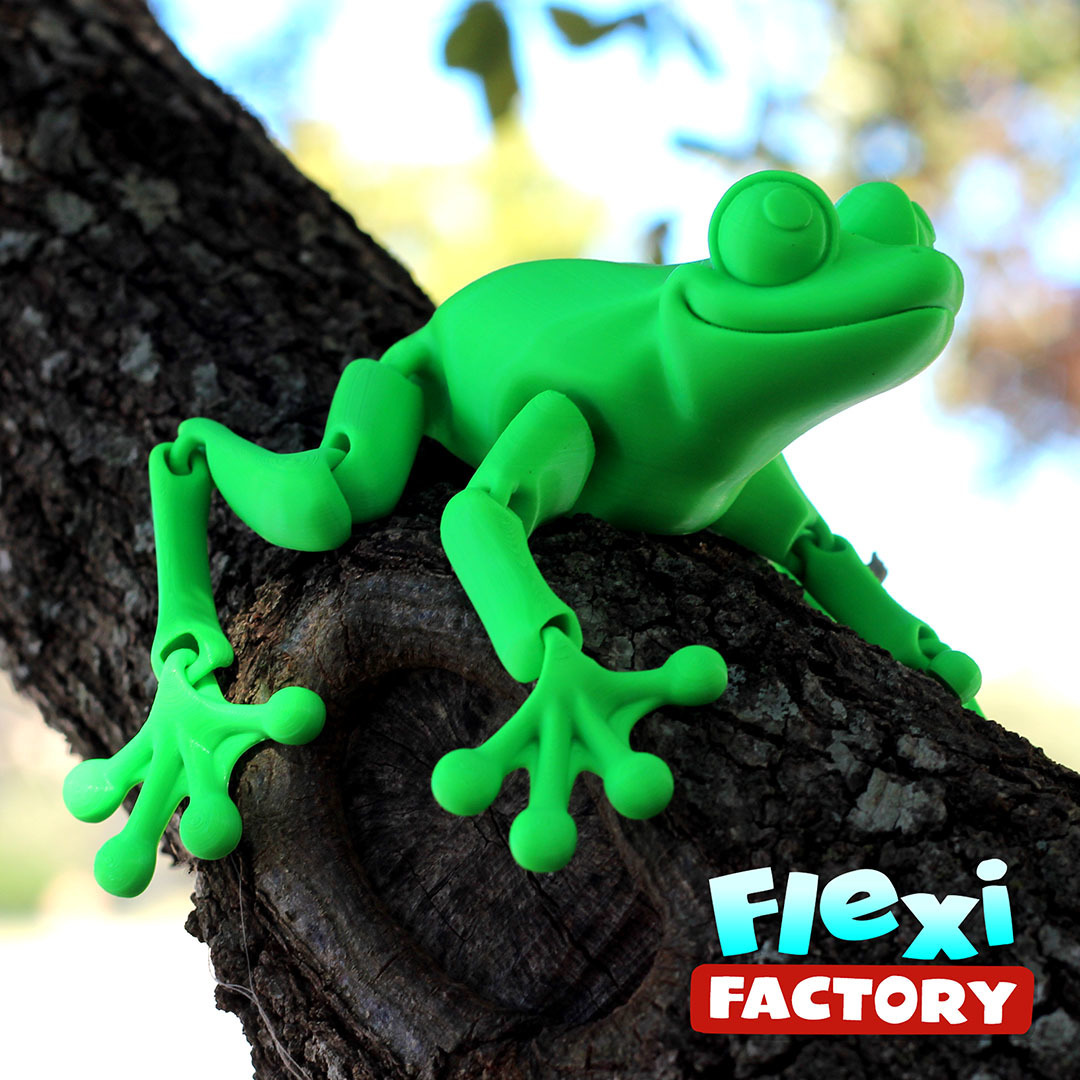 Frog_08.jpg Download STL file Cute Flexi Print-in-Place Frog • Template to 3D print, FlexiFactory