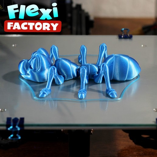 Ant02.jpg Download STL file Cute Flexi Print-in-Place Ant • 3D printing design, FlexiFactory