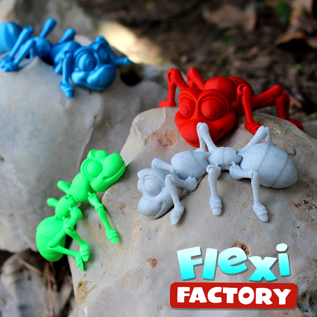 Ant11.jpg Download STL file Cute Flexi Print-in-Place Ant • 3D printing design, FlexiFactory