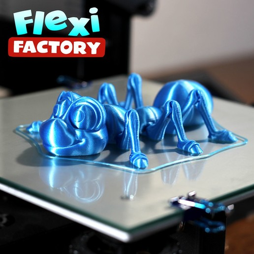 Ant01.jpg Download STL file Cute Flexi Print-in-Place Ant • 3D printing design, FlexiFactory