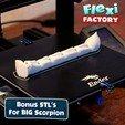 BiG_Scorpion02.jpg Download STL file Flexi Print-In-Place Scorpion • 3D printer object, FlexiFactory