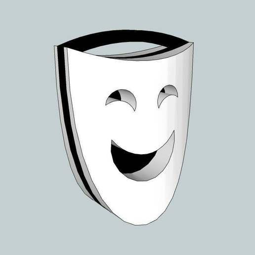 Theater.jpg Télécharger fichier STL gratuit Porte-clés des masques de théâtre • Modèle pour imprimante 3D, Nesh