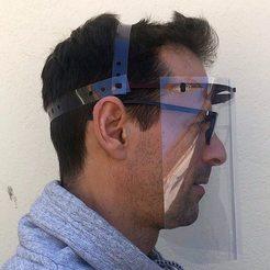 Télécharger objet 3D gratuit Visière Anti-Postillons contre le Covid 19, sans élastique, renaudiltis