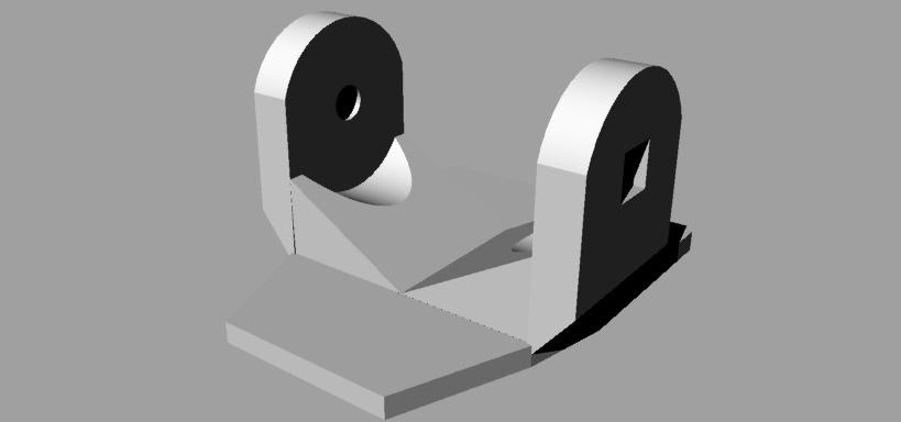 Attacco auto.jpg Télécharger fichier 3DS gratuit Adaptateur de fixation pour téléphone / voiture Gopro • Modèle imprimable en 3D, Verl
