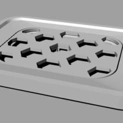 Soapdish.jpg Télécharger fichier OBJ Porte-savon avec grille collectrice d'eau amovible. • Plan pour impression 3D, Verl