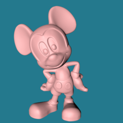 Download 3D printer model Mickey Mouse for printer, lolypons