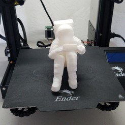 Download 3MF file Astronaut cell phone holder • Design to 3D print, mamuchi1981