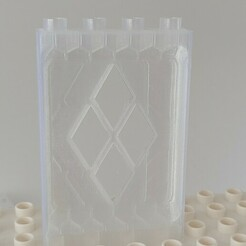 20210114_123522.jpg Download STL file Lego Duplo wall building block , window, Mur, Wand • 3D printing model, tobimat