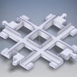 Lego_Duplo_Schien_kreuzung.jpg Download STL file Railway rails crossing • Model to 3D print, tobimat