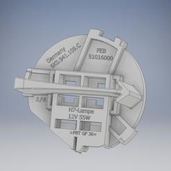 VW_adapter.jpg Télécharger fichier STL Pièce Volkswagen 5K0941109C Bouchon de phare H7 • Objet imprimable en 3D, tobimat