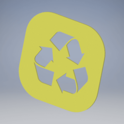 reciclaje amarillo.png Download free STL file Recycle • 3D printer template, enel