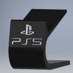 imagen_2020-11-21_234530.png Download STL file PS5 Dual Sense Controller stand with logo • 3D printable model, enel