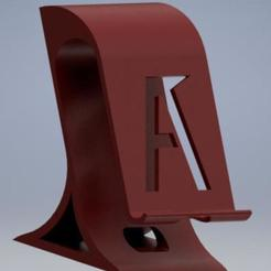 Stand movil.jpg Download STL file Mobile support // Smartphone stand • Template to 3D print, enel