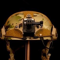 DSC_5546-2.jpg Download STL file Gopro Airsoft Helmet Mount • 3D printer model, Goodmods