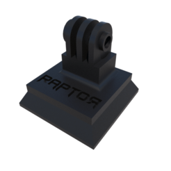 01.png Download STL file Gopro Mount Tripod Quick Release • 3D printable object, Goodmods