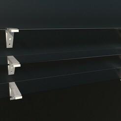 01.jpg Download STL file Wall display mount for glass or shelf display • 3D printable model, Goodmods