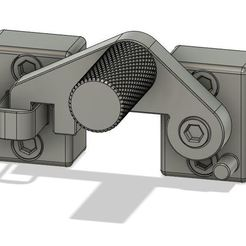 Ensemble sur Fusion.JPG Download free STL file Door lock for 8mm grooved profile doors • Model to 3D print, lsdtdragon