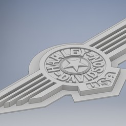 Fat Boy.jpg Download STL file Harley Davidson Fat Boy logo • Object to 3D print, davidA7X