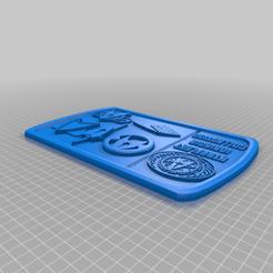 Starfleet_Insignia_3.png Download free STL file Starfleet 3 Plaque / Sign • 3D printer model, longpaul395