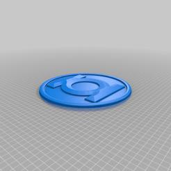 Green_Corps.png Télécharger fichier STL gratuit Emblème du Green Lantern Corps • Modèle imprimable en 3D, longpaul395