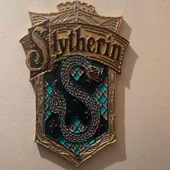 IMG_1657.jpeg Télécharger fichier STL gratuit Harry Potter - Plaque / Panneau de signalisation de Serpentard • Objet à imprimer en 3D, longpaul395