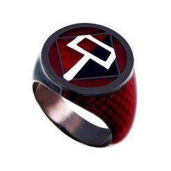 Harley_Lantern.jpg Download free STL file The Harley Quinn Red&Black Lantern Ring • 3D printing design, longpaul395