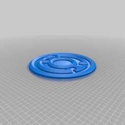 Blue_Corps.png Télécharger fichier STL gratuit Emblème du Blue Lantern Corps • Plan pour imprimante 3D, longpaul395