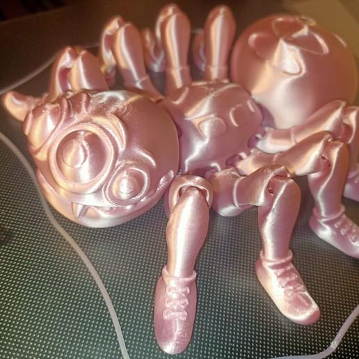 Télécharger fichier STL Mignonne araignée à impression flexographique • Objet imprimable en 3D, FlexiFactory