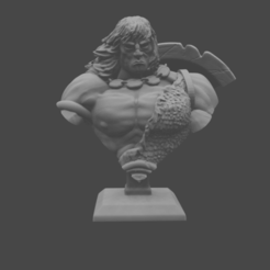 CONAN_BUST.png Download free STL file Barbarian Classic Bust • 3D printing model, DomesticTroll_3dMaker