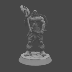 BARBARIAN_RENDER.png Download STL file Barbarian classic comic • 3D printable model, DomesticTroll_3dMaker