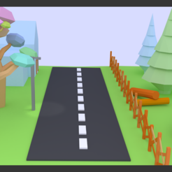 Download free 3D printing designs Low poly nice trees and structure street, ninjadamasterda101