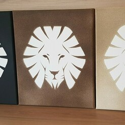 20201201_172246.jpg Download STL file Lion Stencil - Wall Art • 3D printing template, denverpepe