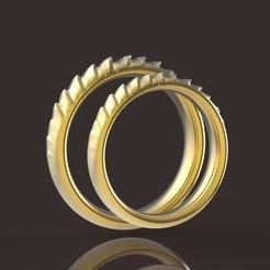 Download STL file Daenerys Targaryen comfort wedding rings • 3D printable model, papcarlo