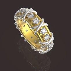 7 (1).jpg Download OBJ file Beautiful female ring • 3D printable model, papcarlo