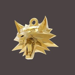 1 (1).jpg Download OBJ file Witcher medallion • 3D printing design, papcarlo